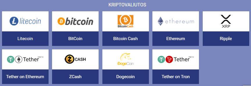 paripesa kriptovaliutos